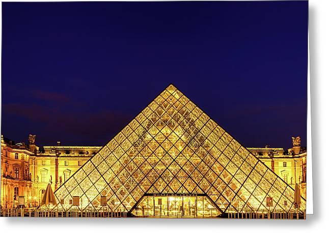 Louvre Pyramid Greeting Card