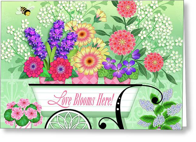 Love Blooms Here Greeting Card