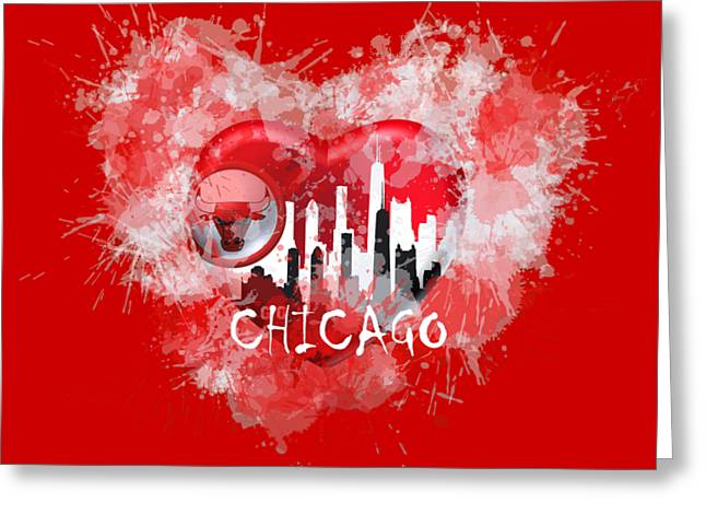 Love Chicago Colors Greeting Card