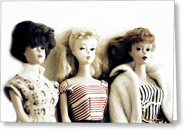 Lovely Old Barbies Greeting Card