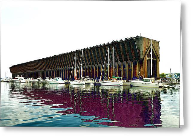 Lower Harbor Ore Dock At Marquette Michigan. Greeting Card
