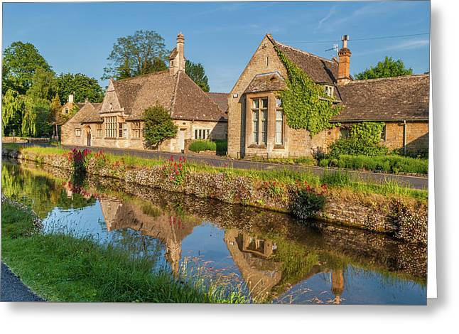 Lower Slaughter And The River Eye Greeting Card by David Ross