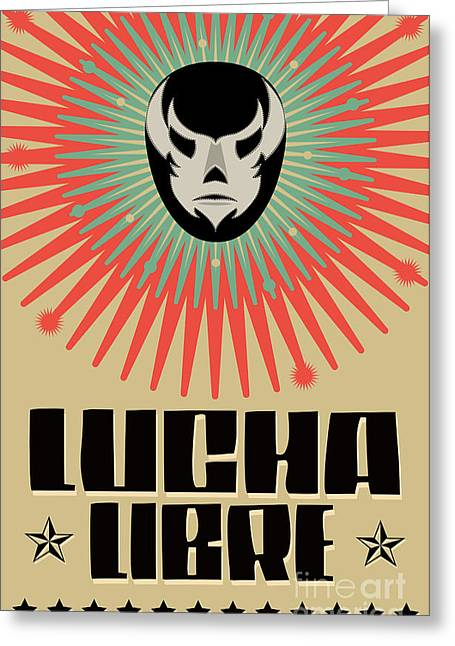 Lucha Libre - Wrestling  Spanish Text - Greeting Card