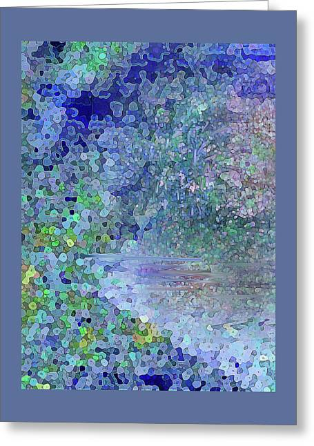 Luka Abstract 218 Blue Greeting Card