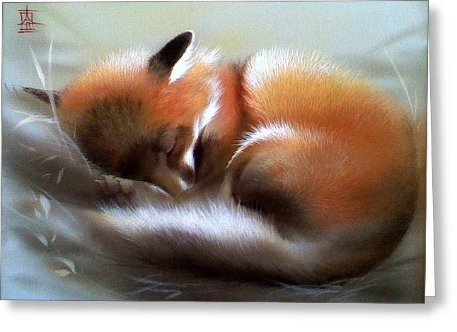 Lullaby For Baby Fox Greeting Card