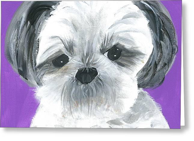 Greeting Card featuring the painting Lulu by Suzy Mandel-Canter