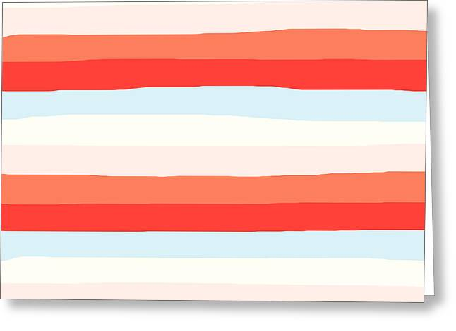 lumpy or bumpy lines abstract and colorful - QAB268 Greeting Card
