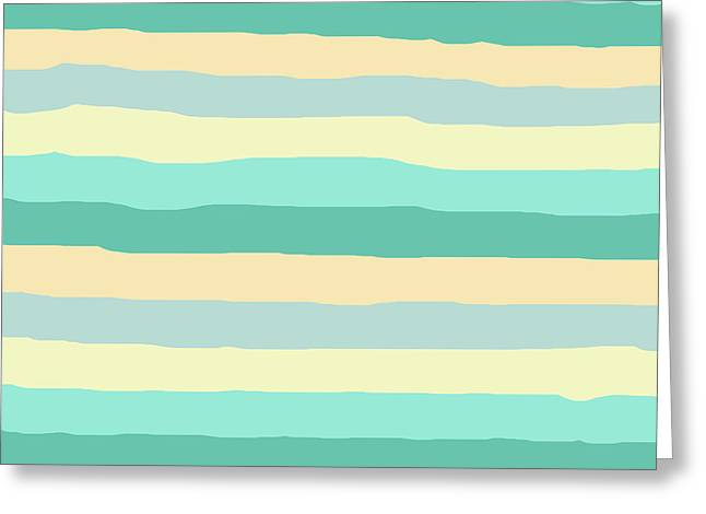 lumpy or bumpy lines abstract and summer colorful - QAB271 Greeting Card