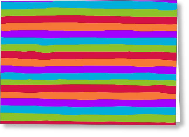 lumpy or bumpy lines abstract and summer colorful - QAB273 Greeting Card