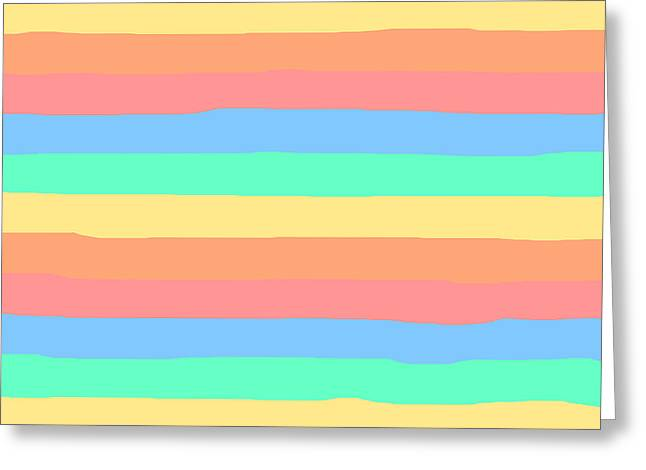 lumpy or bumpy lines abstract and summer colorful - QAB275 Greeting Card