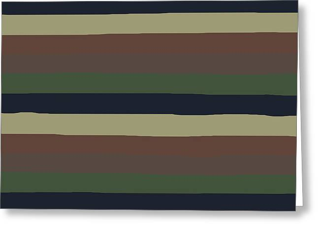 Army Color Style Lumpy Or Bumpy Lines - Qab279 Greeting Card