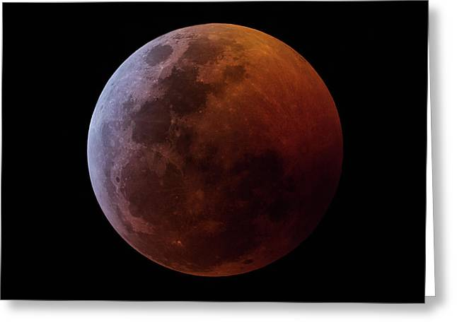 Lunar Eclipse 2019_11h44m Greeting Card