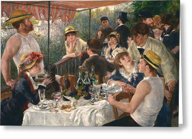 Luncheon Of The Boating Party, 1880-1881 Greeting Card