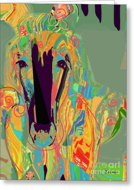Lungta Windhorse No 6 Greeting Card