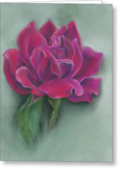 Greeting Card featuring the photograph Lush Red Rose by MM Anderson