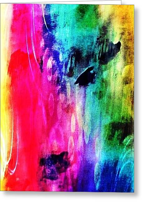Greeting Card featuring the mixed media Luxe Splash  by Rachel Maynard