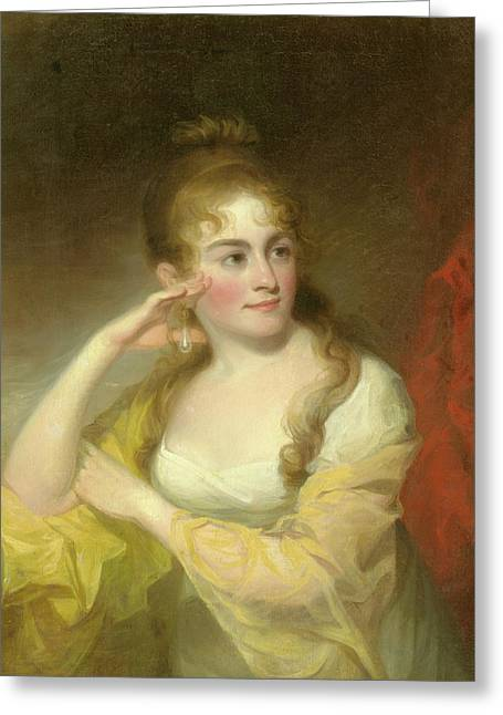 Portrait Of Lydia Leaming, 1806 Greeting Card