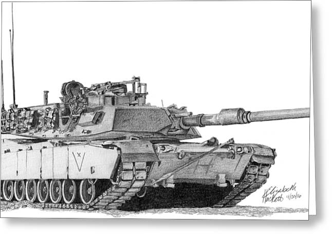 M1a1 C Company Xo Tank Greeting Card
