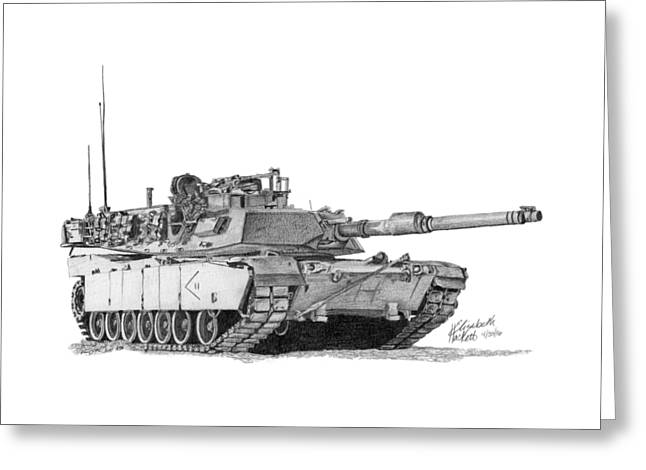 M1a1 D Company 2nd Platoon Greeting Card