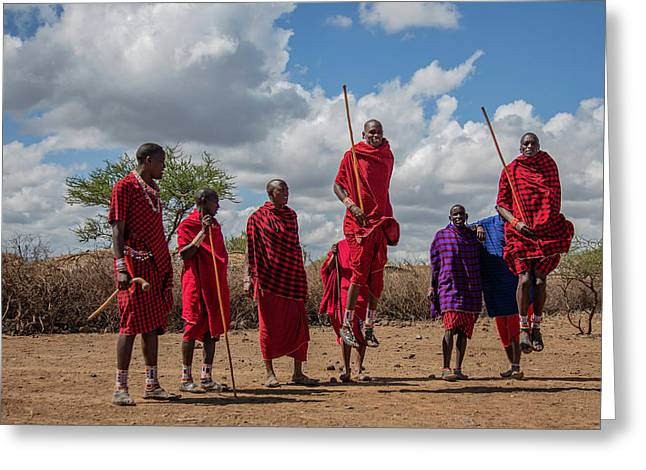 Maasai Adumu Greeting Card