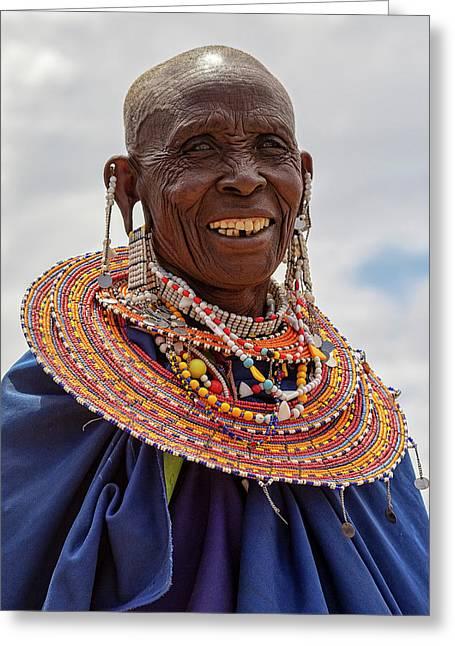 Maasai Woman In Tanzania Greeting Card