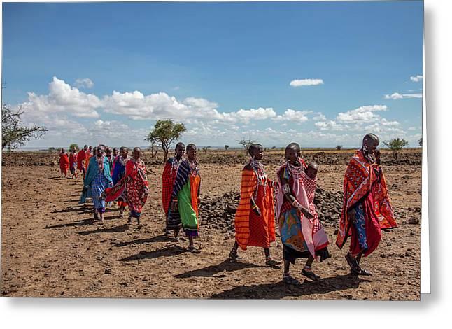 Maasi Women Greeting Card