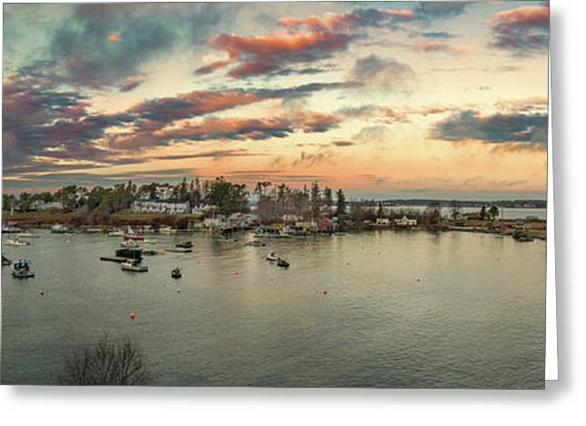 Greeting Card featuring the photograph Mackerel Cove Sunrise by Guy Whiteley