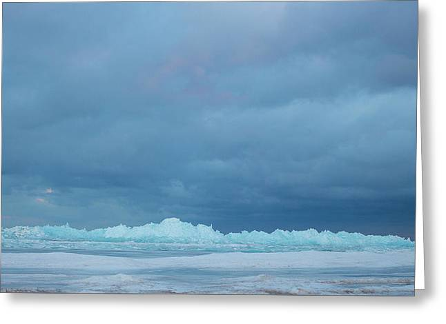 Greeting Card featuring the photograph Mackinaw City Ice Formations 21618012 by Rick Veldman