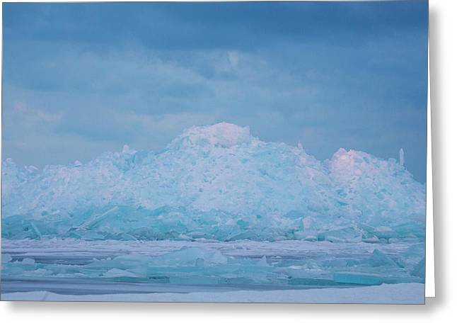 Greeting Card featuring the photograph Mackinaw City Ice Formations 2161802 by Rick Veldman