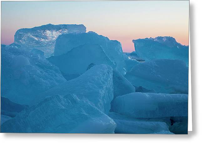 Greeting Card featuring the photograph Mackinaw City Ice Formations 2161804 by Rick Veldman