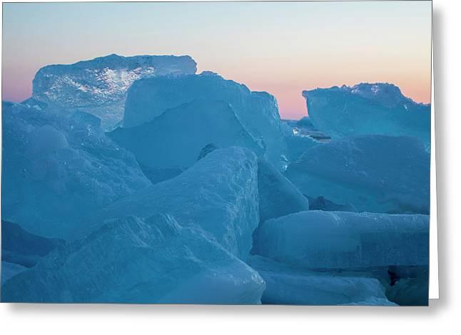 Mackinaw City Ice Formations 2161804 Greeting Card