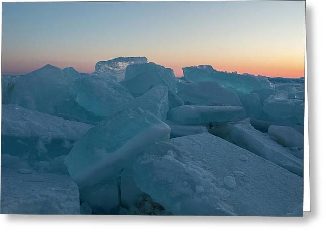 Mackinaw City Ice Formations 2161808 Greeting Card