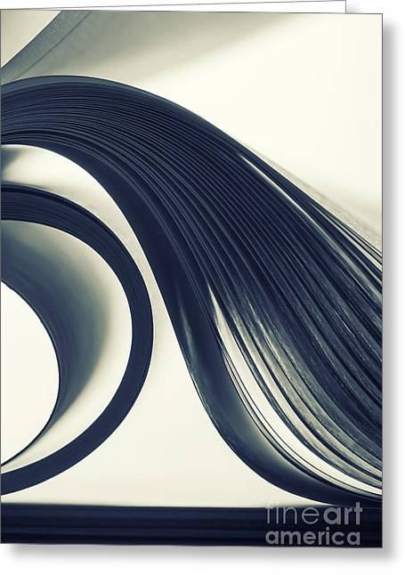 Macro View Of Abstract Paper Curves Greeting Card