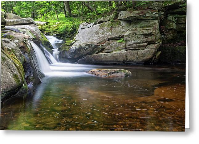 Greeting Card featuring the photograph Mad River Falls by Nathan Bush