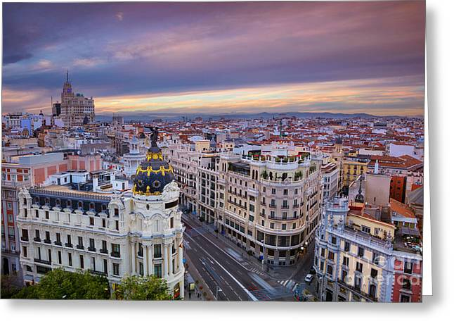 Madrid. Cityscape Image Of Madrid Greeting Card