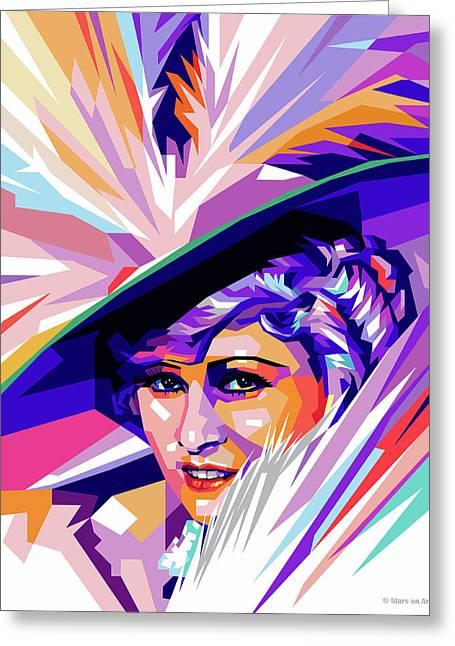 Mae West Pop Art Greeting Card