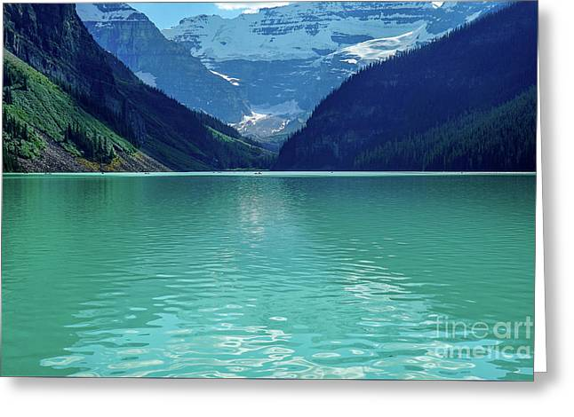 Magic At Lake Louise Greeting Card