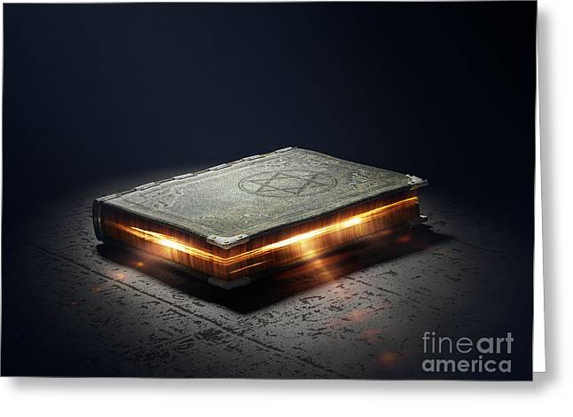 Magic Book With Super Powers - 3d Greeting Card