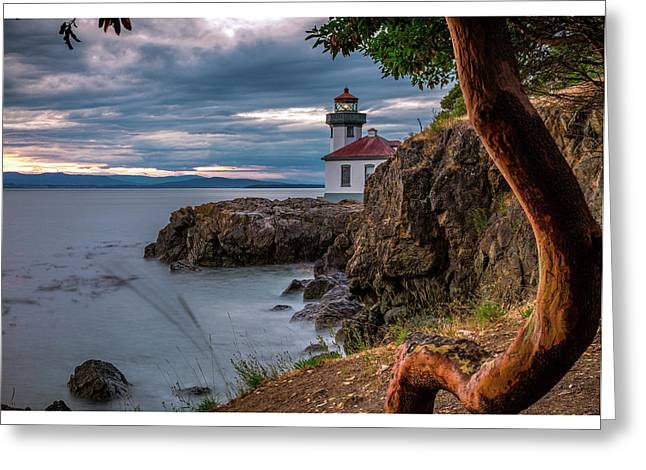 Magic Sunset - Lime Kiln Light Greeting Card