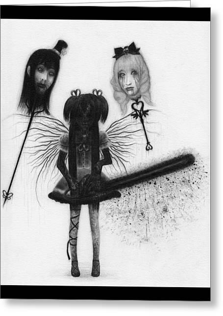 Magical Girl Bloody Nightmare - Artwork Greeting Card
