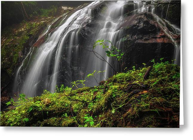 Magical Mystical Mossy Waterfall Greeting Card