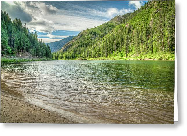 Magnificent Wenatchee River View Greeting Card