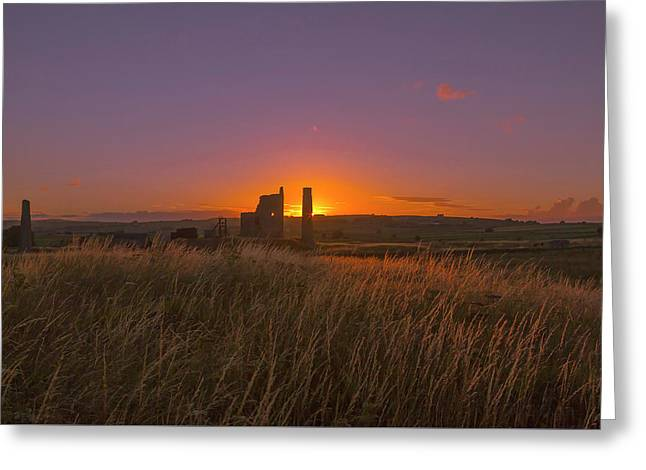 Magpie Mine Sunset Greeting Card