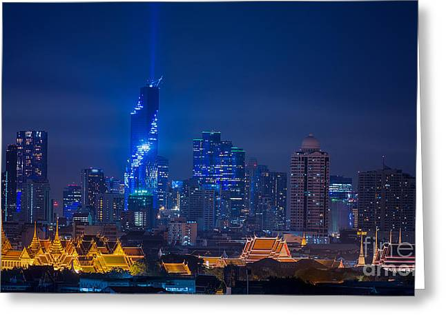 Mahanakhon Bangkok Rising Lightshow Greeting Card