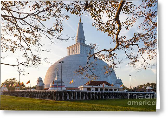 Mahatupa Big Dagoba In Anuradhapura At Greeting Card