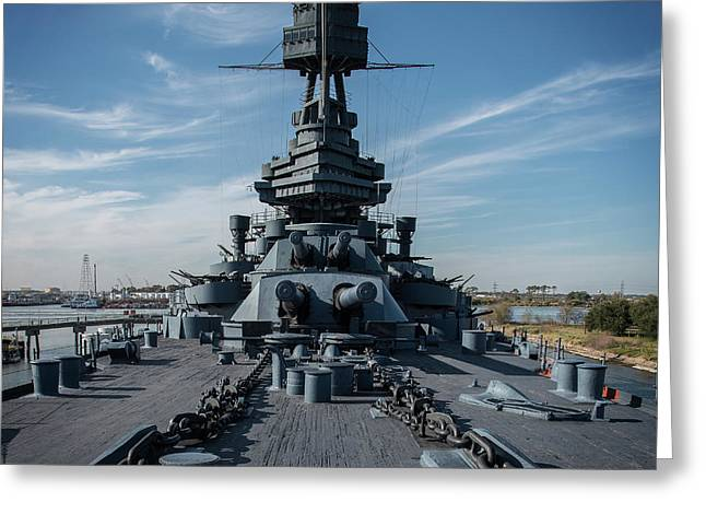 Main Deck, Uss Texas Greeting Card