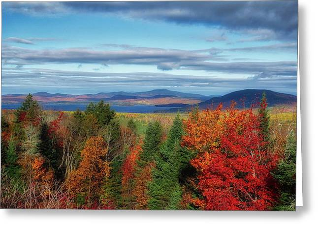 Maine Fall Foliage Greeting Card