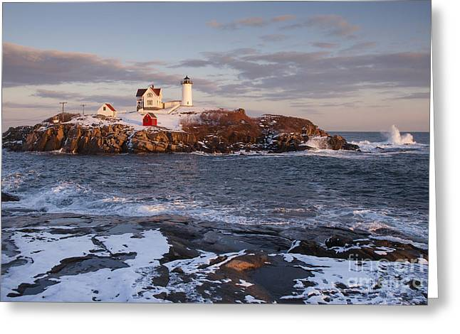 Maines Nubble Cape Neddick Lighthouse Greeting Card