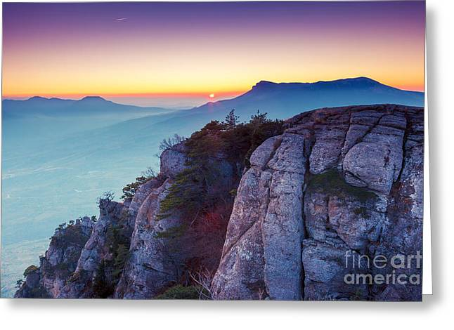 Majestic Morning Mountain Landscape Greeting Card