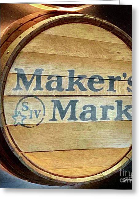 Makers Mark Barrel Greeting Card